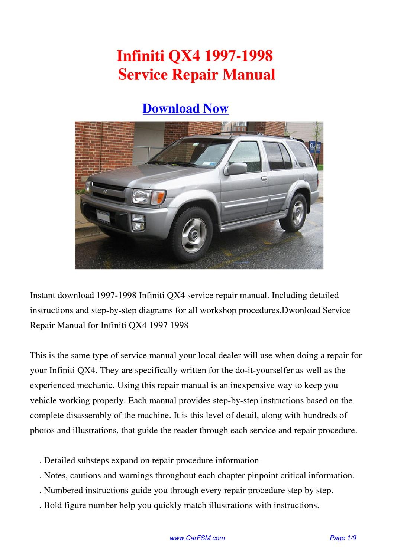 1998 infiniti i30 repair manual