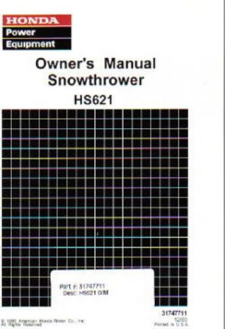 honda snowblower service manual free