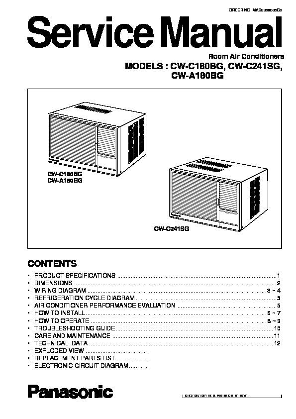 panasonic e ion air conditioner manual