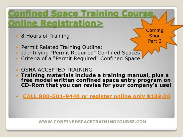 confined space entry training manual