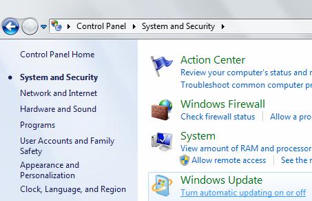 windows 7 security updates manual download