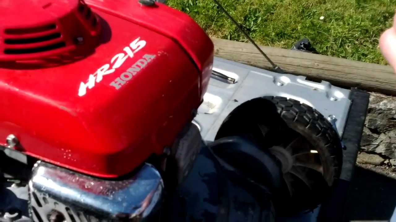 honda self propelled mower repair manual