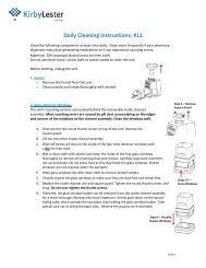 kirby lester kl1 operating manual
