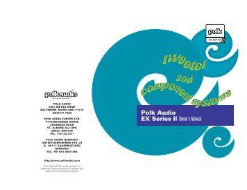 polk audio monitor60 series ii manual