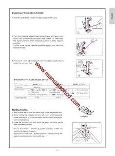 shark euro pro sewing machine instruction manual