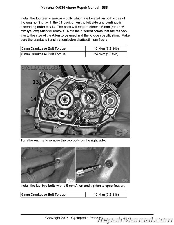 yamaha virago 535 repair manual free download